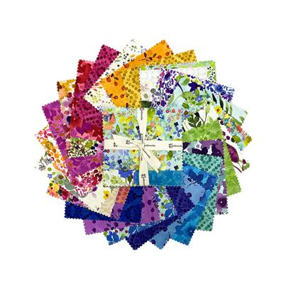 "Painted Patchwork 5"" Squares"