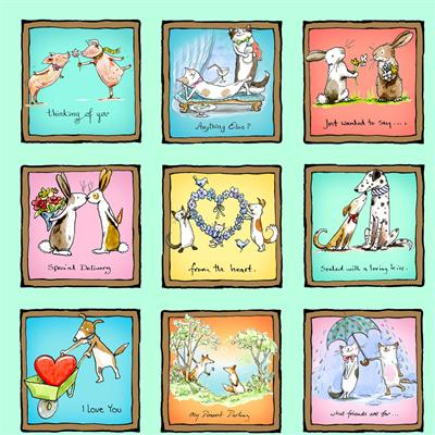From the Heart Digital Small Animal Love Squares