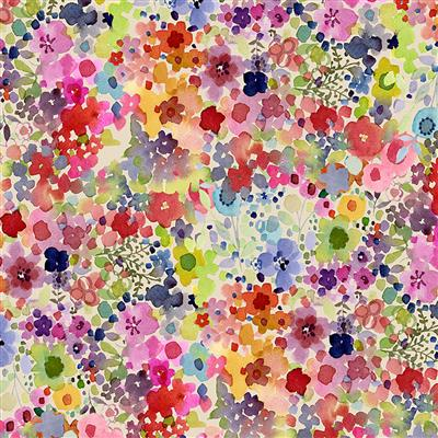Painted Patchwork Digital Blooms